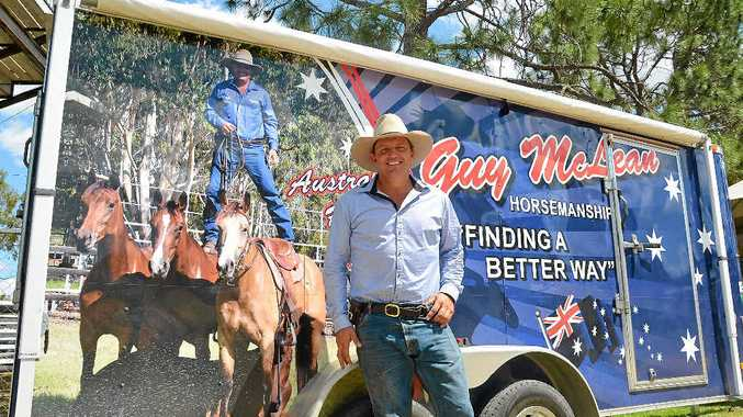 TALENT SHOW: Entertainer, horseman and bush poet Guy McLean brings his horsemanship show to the Warwick Rodeo.