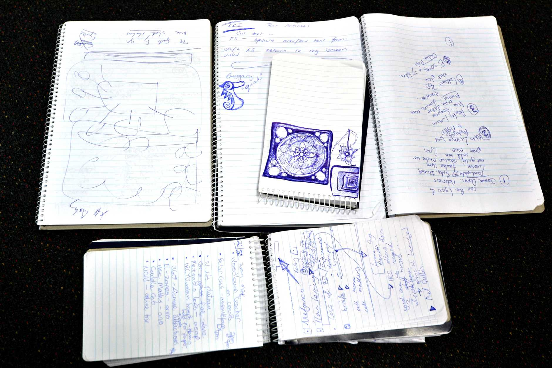 The range of notes and artwork made by The Northern Star journalists while discussing the news
