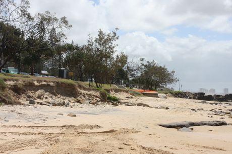 Erosion along Mooloolaba Beach on Friday, March 8.