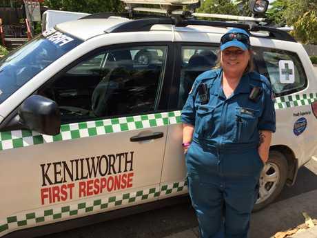 Kenilworth First Responder Linda Green volunteers at least 72 hours a week.