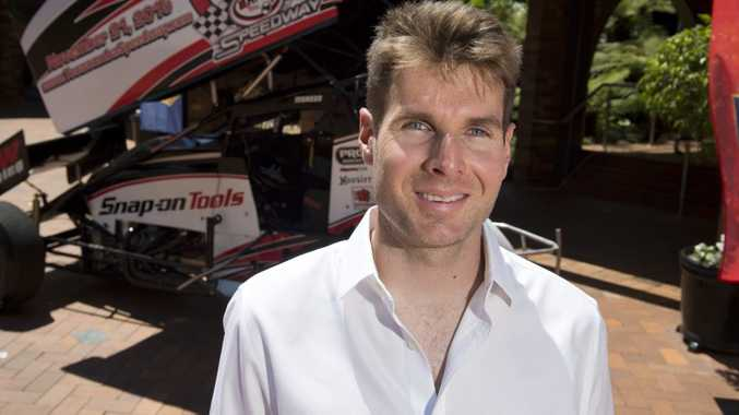 HOME: Will Power back in Toowoomba during the IndyCar off-season. Photo Kevin Farmer / The Chronicle