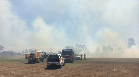 EMERGENCY: Crews attending a fire in North Bundaberg. Photo Mike Knott / NewsMail