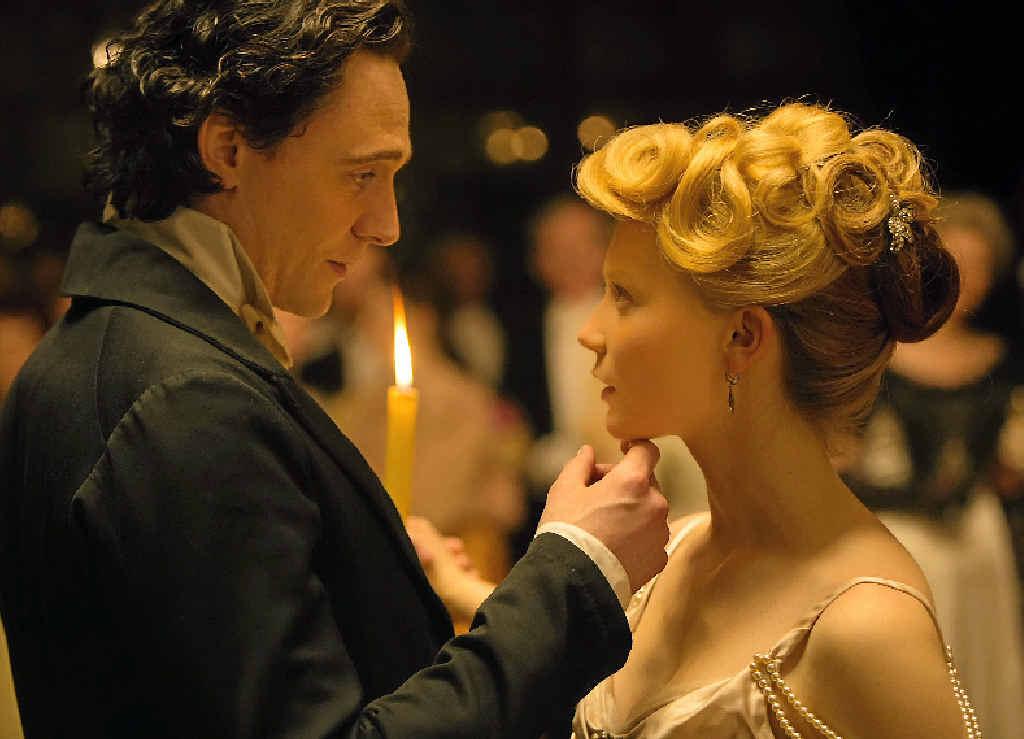 TRAGIC TALE: Tom Hiddleston and Mia Wasikowska in a scene from the movie, Crimson Peak.