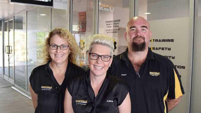 The Macville Holdings team (left) Natasha Many and Aziza and Adam Allister.