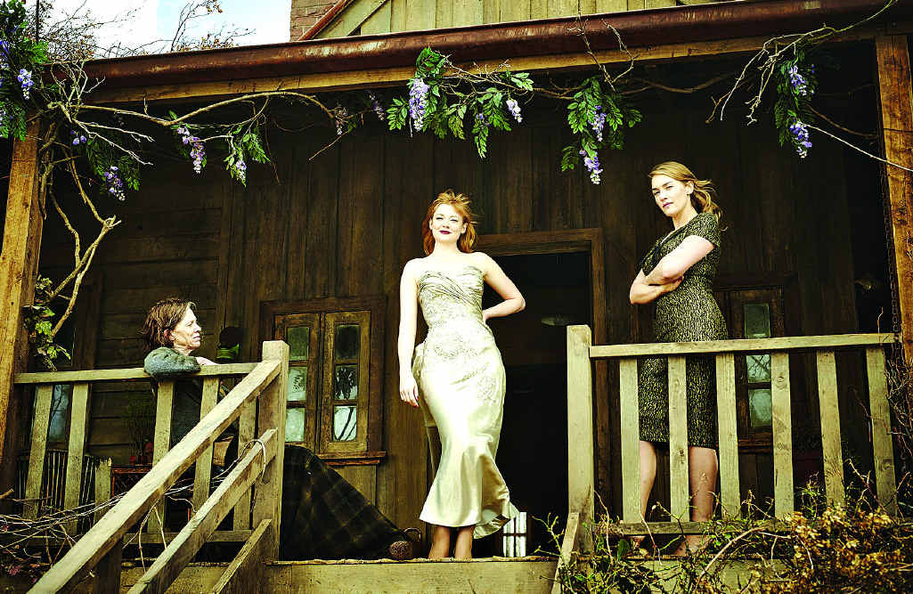 Judy Davis, Sarah Snook and Kate Winslet in a scene from The Dressmaker.