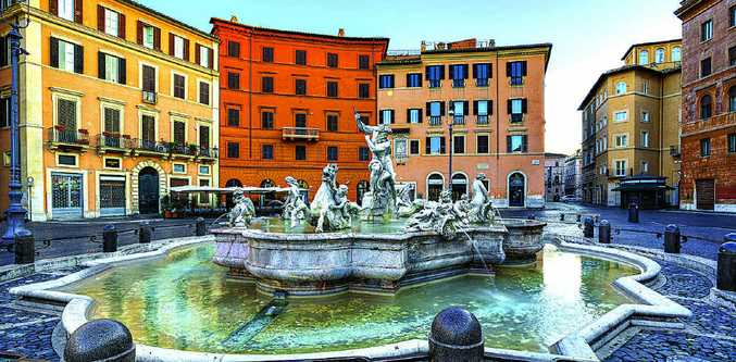 Rome's Piazza Navona, for three centuries the city's main market.