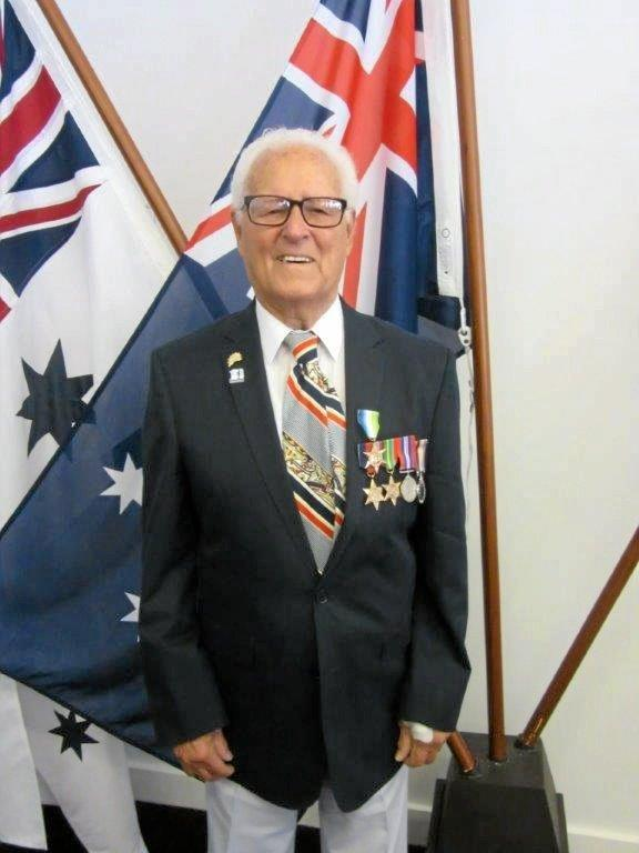 Ex merchant marine Walter Backhouse was awarded the Atlantic Star Medal for services in the Battle of the Atlantic.