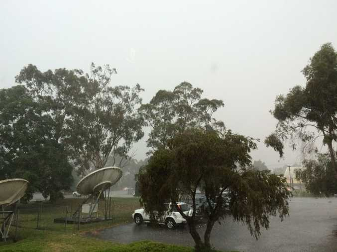 Storm goes over the media centre  at Goonellabah