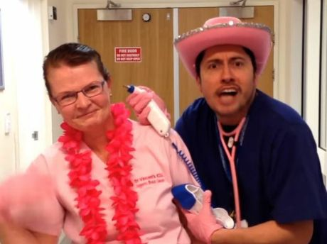 A scene from St Vincent's Hospital's Pink Glove Dance.