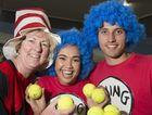 The RACQ CareFlight team Sarah Delahunty, Catherine Laudon and Nicholas Harvey at the Hutchies Corporate Challenge.