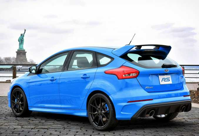 NOT SUBTLE: Special RS body kit, interior, engine tune and chassis for Ford's halo performance hatch