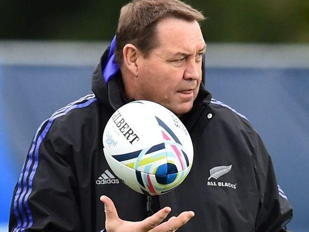 New Zealand All Blacks' head coach Steve Hansen. Photo: AFP PHOTO / GABRIEL BOUYS