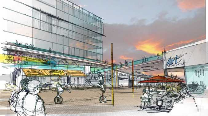 An artist's impression of Retail Stage One in the Ipswich CBD. Photo: Contributed