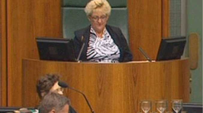 NEW ROLE: Capricornia MP Michelle Landry stands in as Speaker in Federal Parliament.