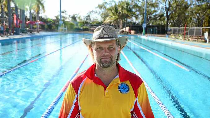 BIG SPLASH: Co-owner of the 42nd Battalion Memorial Pool in North Rockhampton, Val Kalmikovs is excited to have it up and running again. Government funding will allow its infrastructure to be upgraded.