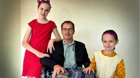 STARRING ROLE: Cystic fibrosis sufferer Ella Sinclair, 11, has been cast for the lead role in the Annie Warbucks musical and will perform alongside her sister Lily, 6 and dad, Peter.