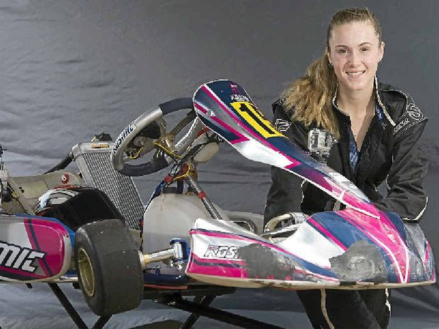 NEED FOR SPEED: Sixteen-year-old Nariko McDonnell is a kart racer who hopes one day to race V8 Supercars.
