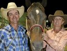 PLACINGS: Lee Kimber and Cherie O'Donoghue after first round success at the Warwick Rodeo on their horse, Hooley.