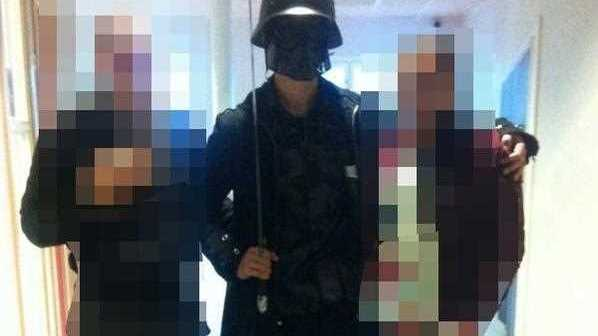 The man brandishing a sword broke into a school in Sweden, killing two people and seriously wounding two others before being shot by police.