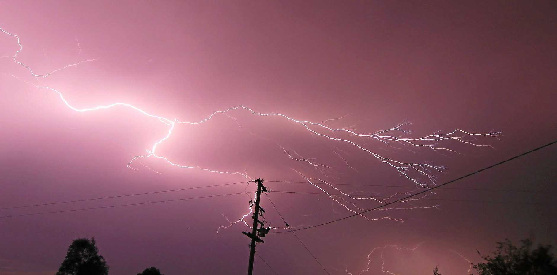 Average lightning bolts carry a current of 10,000 to 30,000 amps.  An average radiator draws ten amps.