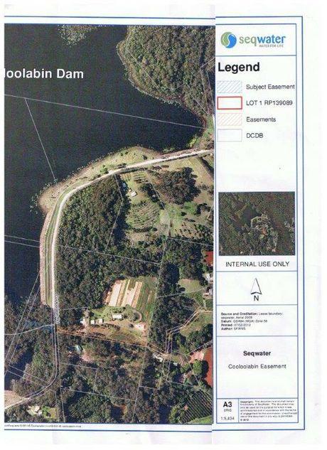 Cooloolabin Dam aerial