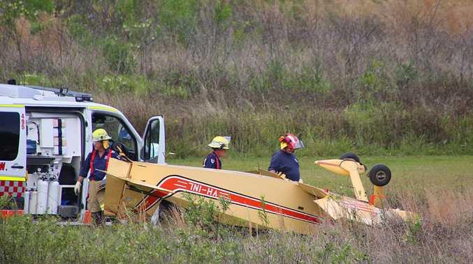 Pilot injured after plane flips at Sandy Beach