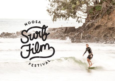 Posters and promotional images for the Noosa Surf Film Festival