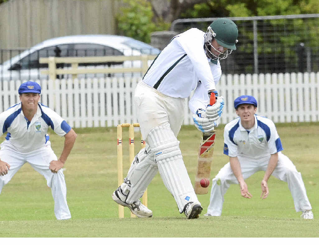 THROUGH THE GATE: Brad Robertson scored six runs before being bowled in his CRCA comeback for GDSC Easts.