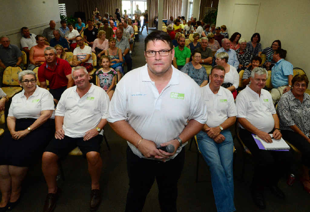 READY TO LISTEN: Rockhampton mayoral candidate Michael McMillan and his shadow council held their first community meeting yesterday at the CQ Leagues Club.