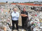 Manager of Rockhampton Waste and Recycling Craig Dunglison and Cr Neil Fisher are hoping to minimise the amount of contaminated recyclables coming through the Rockhampton Landfill.