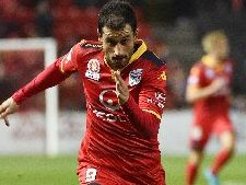 Sergio Cirio had Adelaide's only genuine attempt on goal against Perth.