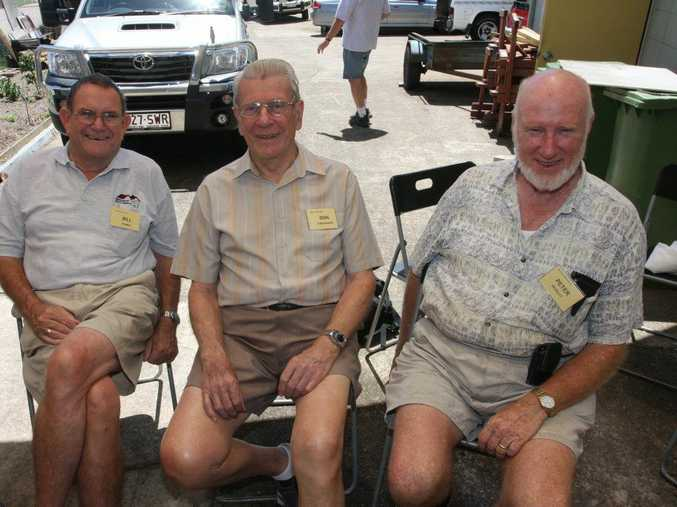 Bill Power, Don Christiansen and Peter Beasley at Maroochy Men's Shed.