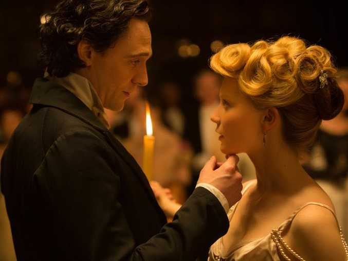 FOR REVIEW AND PREVIEW PURPOSES ONLY. Tom Hiddleston and Mia Wasikowska in a scene from the movie Crimson Peak. Supplied by Universal Pictures.