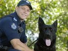 Toowoomba Police Dog Squad Senior Constable Chad McLeod with police dog Xero.