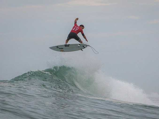 Julian Wilson at the Quiksilver Pro France.