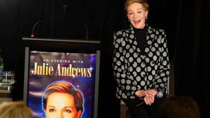 Stage and screen icon Julie Andrews speaks at a press conference during her first visit to Australia on May 16, 2013. AFP PHOTO / William WEST