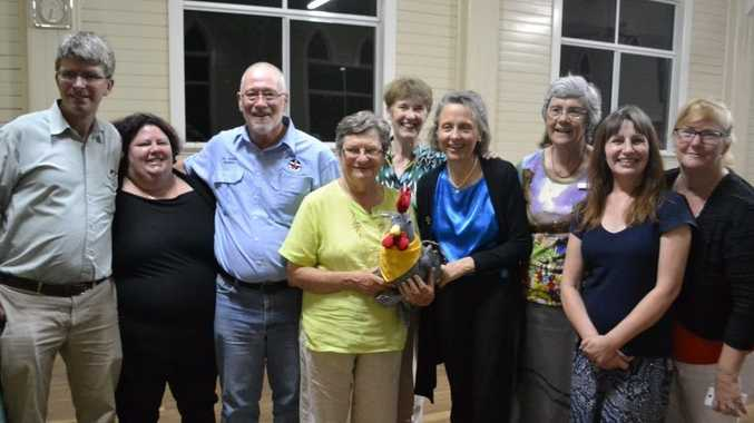 Mark Copland and The Sisters of Mercy met locals Shay Dougall, Rev Graham Slaughter and Narelle Nothdurft (with Bridging the Divide's Annette Hutchins) last Monday.