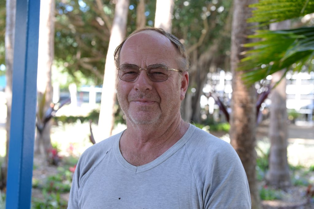 I'm born and bred in Mackay. This is a good area. having the library close to the Mecc. In other cities you'd have a long walk between them. To put it in the dead centre of town is abackward step. The parking will be hard for the elderly. Errol Jorgensen. Photo Lee Constable / Daily Mercury