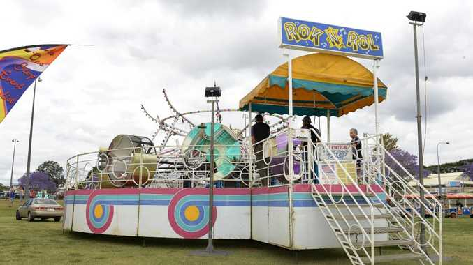 The Rok and Rol ride had a mishap at the Jacaranda Festival on Saturday night. Photo: Rob Williams / The Queensland Times