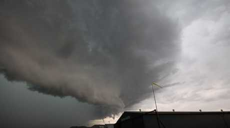 Lismore storm as it rolls over the airport.