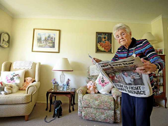 AVID READER: Goonellabah's Joyce Cleaver, 85, and her family have been reading The Northern Star for more than a 110 years combined.