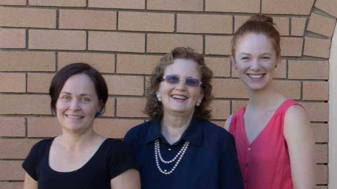 MAKING A DIFFERENCE: Kathy Wooler Speech Therapy team, Bernadette Draper, Kathy Wooler and Rachel Gray.