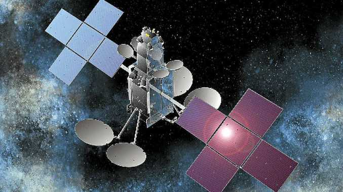 REVIEW: An artist's impression of an NBN satellite.
