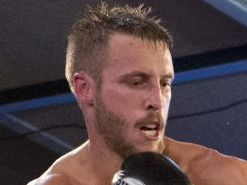 IN ACTION: Toowoomba boxer Kris George. Photo Kevin Farmer / The Chronicle