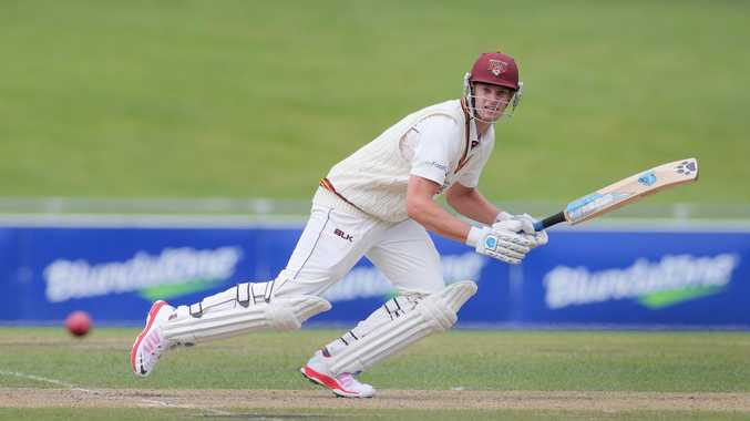 Mark Steketee bats for Queensland in Sheffield Shield last season.