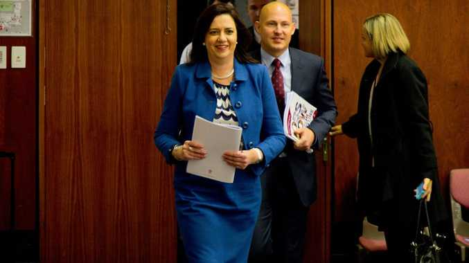 Premier Annastacia Palaszczuk and Treasurer Curtis Pitt
