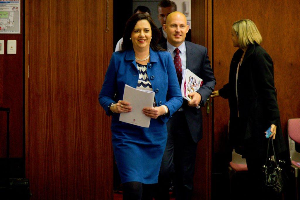 Premier Annastacia Palaszczuk and Treasurer Curtis Pitt
