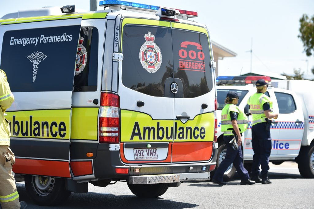 Two people have been taken to hospital after an early morning crash at Goodna.