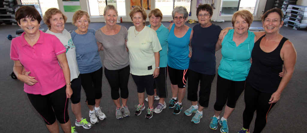 FOR EVERY BODY: Fitness instructor and gym owner Susie Cervai (right) with the seniors' fitness class at the Yeppoon Health and Fitness Centre.