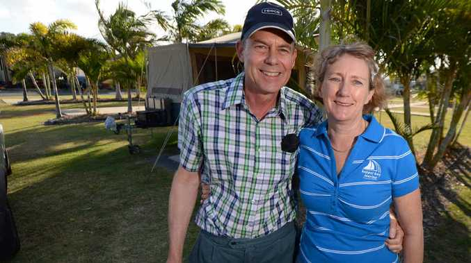 GRATEFUL: Dave and Maureen Heap are revisiting the Capricorn Coast a year after Maureen became extremely ill and was rushed to Yeppoon Hospital, where they were finally able to diagnose her with insulinoma, after years without treatment.